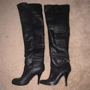 Gently used BCBG pull on over the knee boots